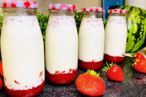 """Korean Strawberry Milk"", sweet and cool"