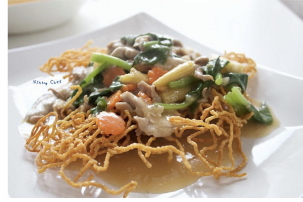 crispy noodles, delicious dishes, easy to make, tight and not monotonous